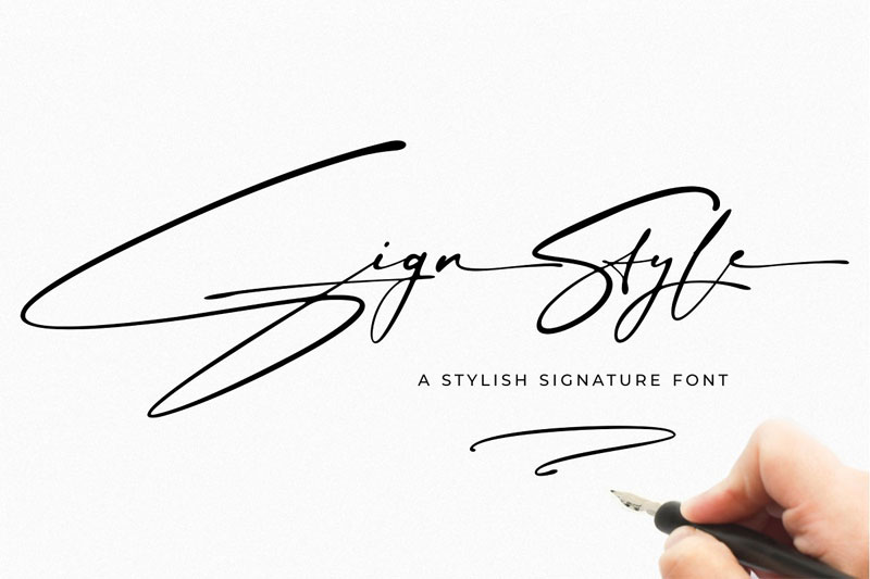 sign style thank you font
