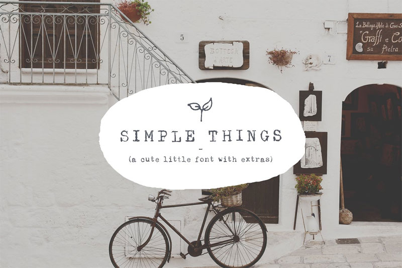 simple things cute little thank you font