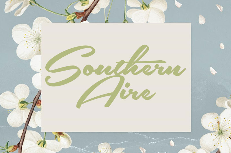 southern aire thank you font