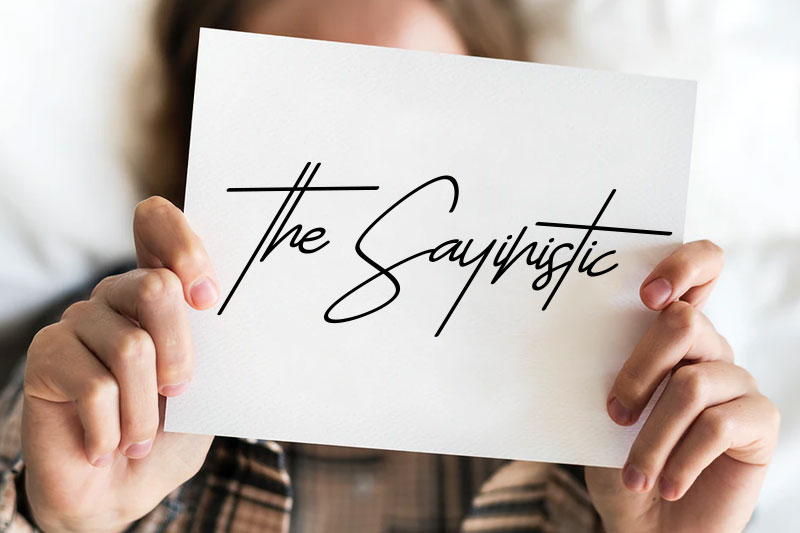 the sayinistic thank you font