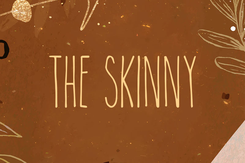 the skinny thank you font