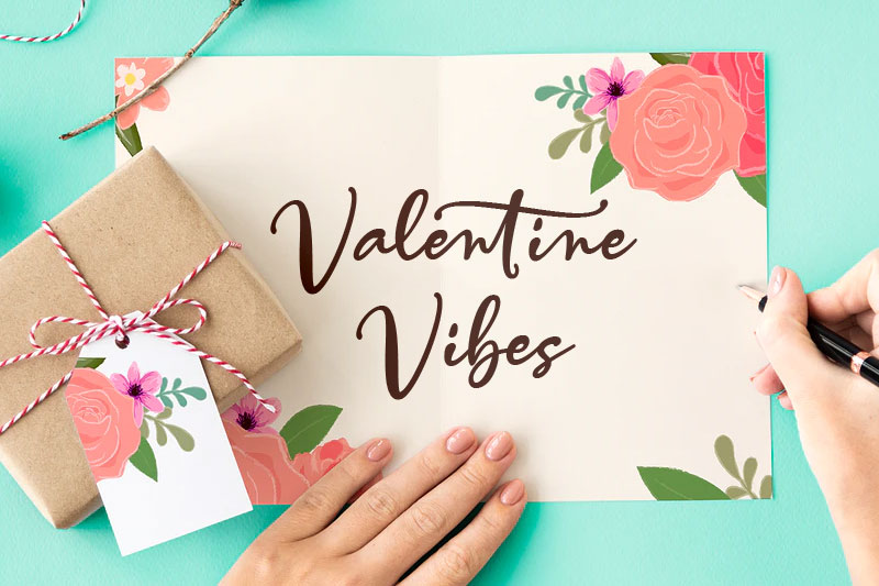valentine vibes thank you font