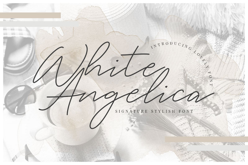 white angelica thank you font