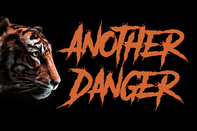 another danger animal font