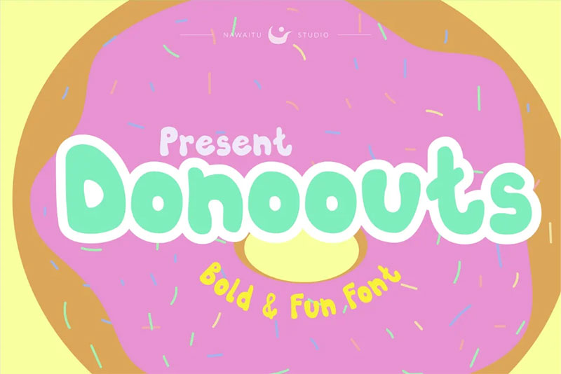 donoouts bold and fun ice cream font
