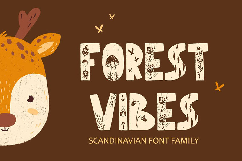 forest vibes animal font