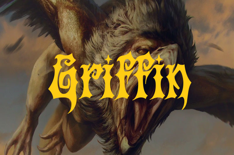 griffin animal font