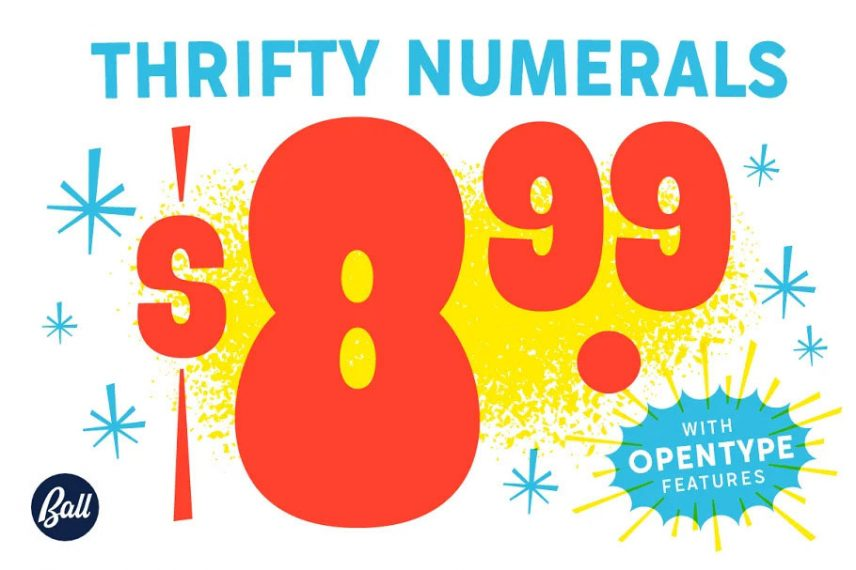 Thrifty Numerals font