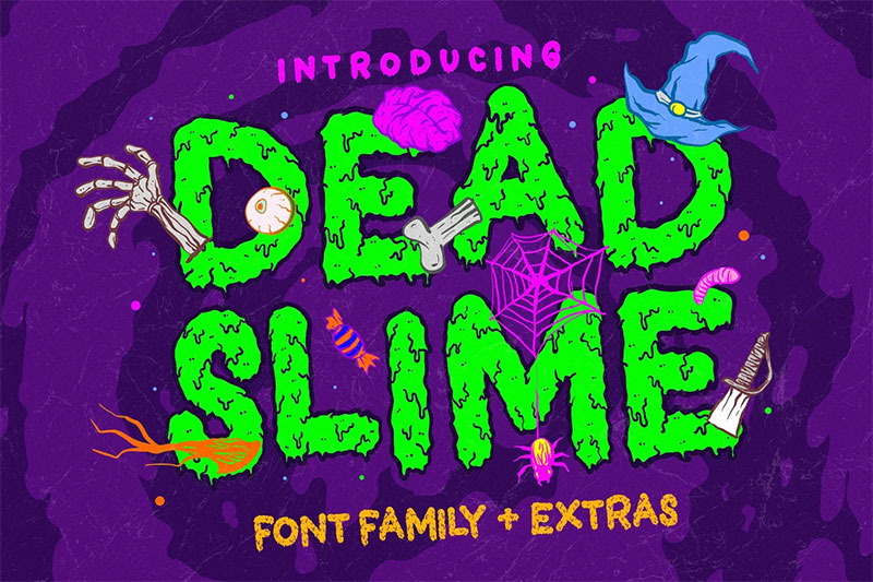 dead slime dripping font