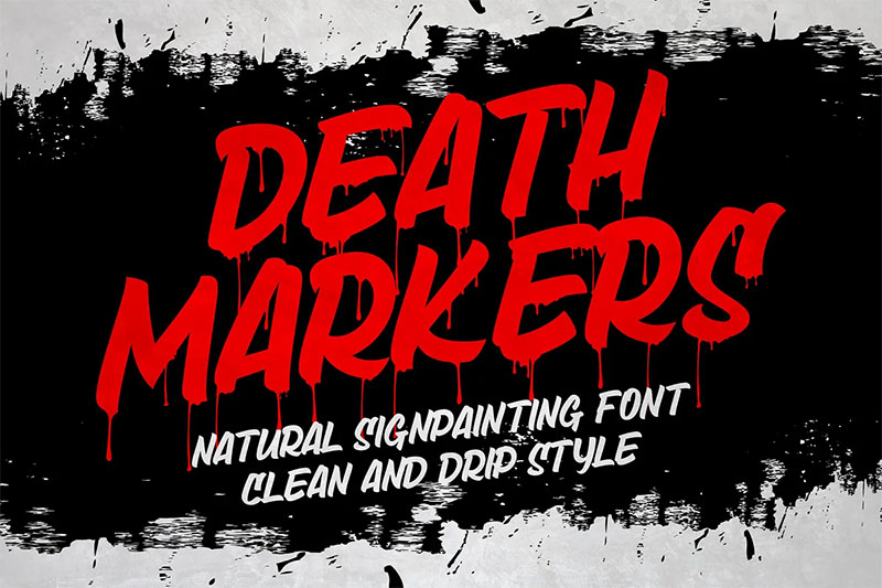 death markers dripping font