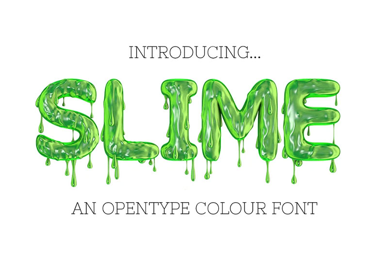 slime dripping font
