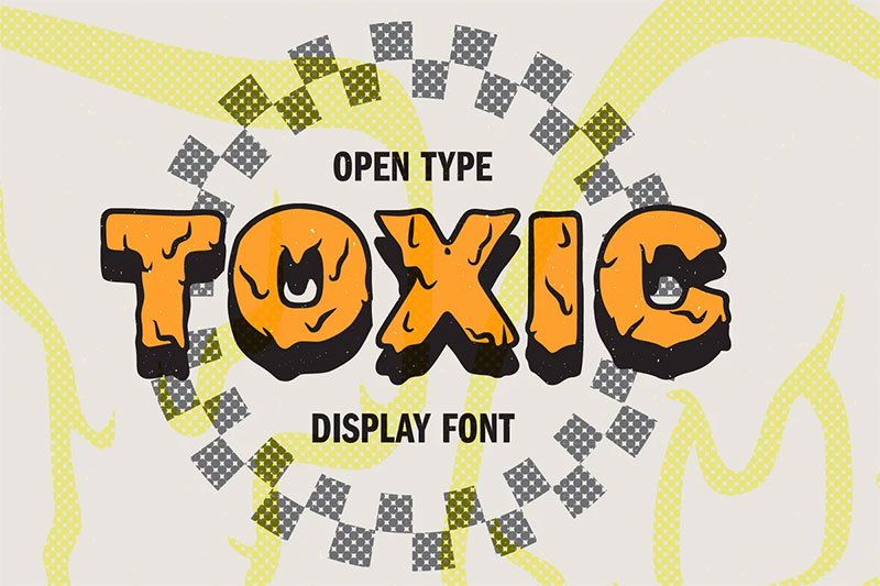 toxic dripping font
