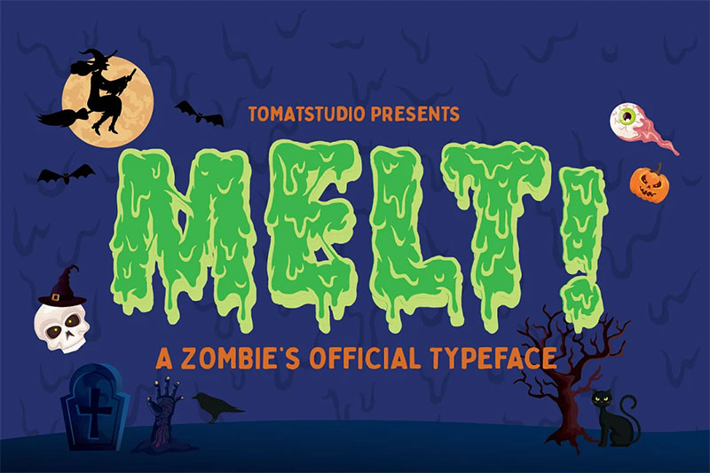 zombie dripping font
