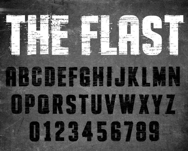 the flast fast font
