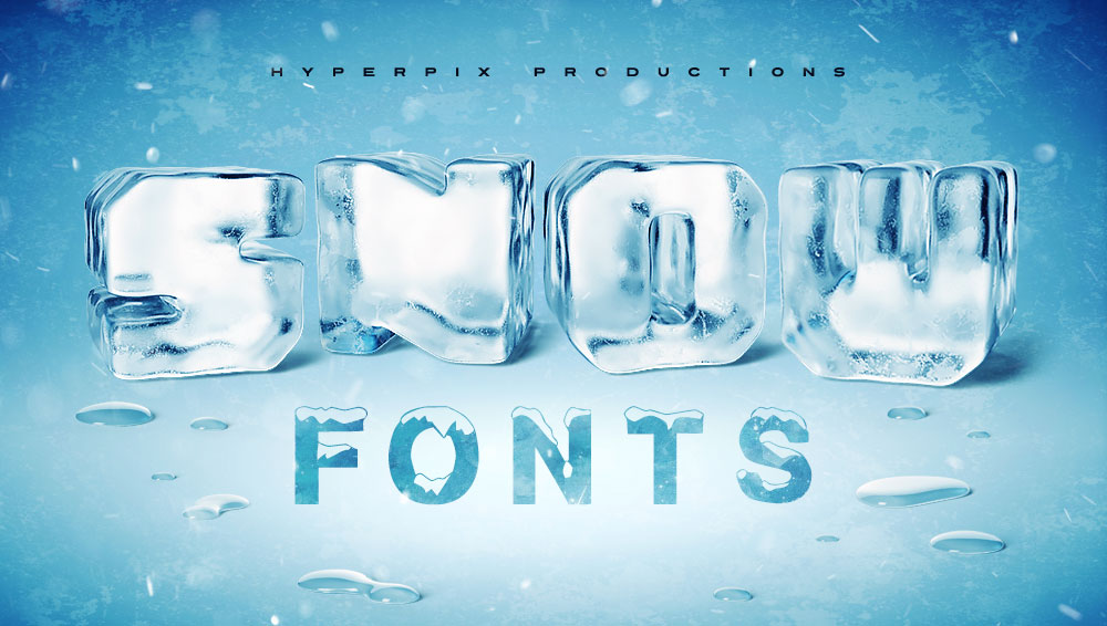Best Free and Premium Snow Fonts