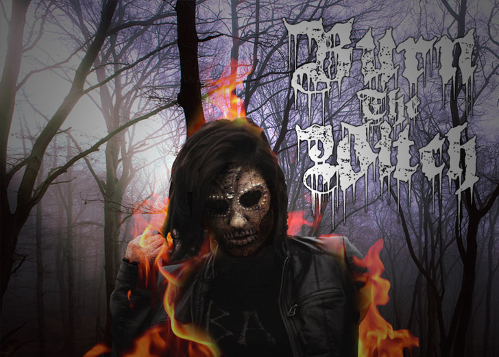 burn the witch death metal font