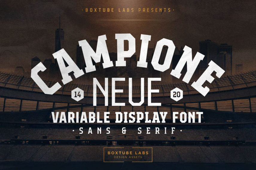 campione neue variable soccer font