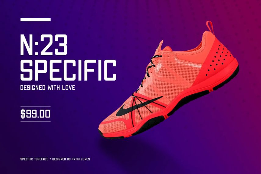 specific typeface soccer font