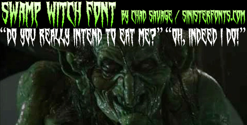 swamp witch death metal font