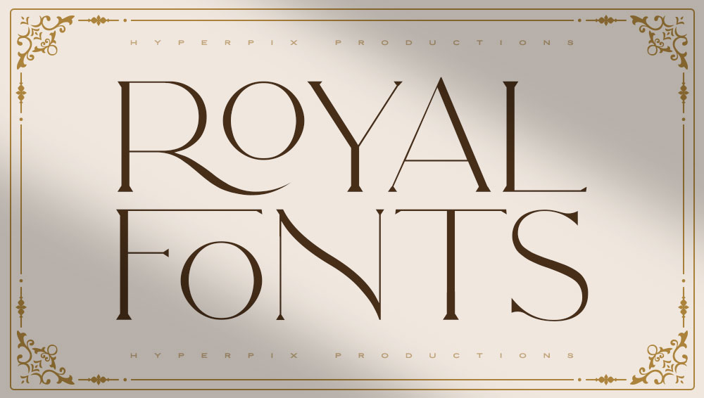 Best Free and Premium Royal Fonts