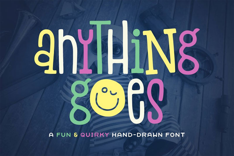 anything goes fun font