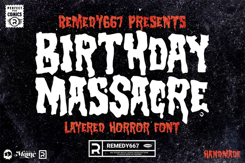 birthday massacre horror and scary font