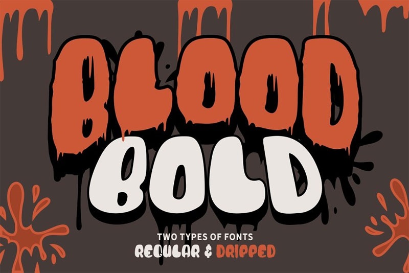 blood bold horror and scary font