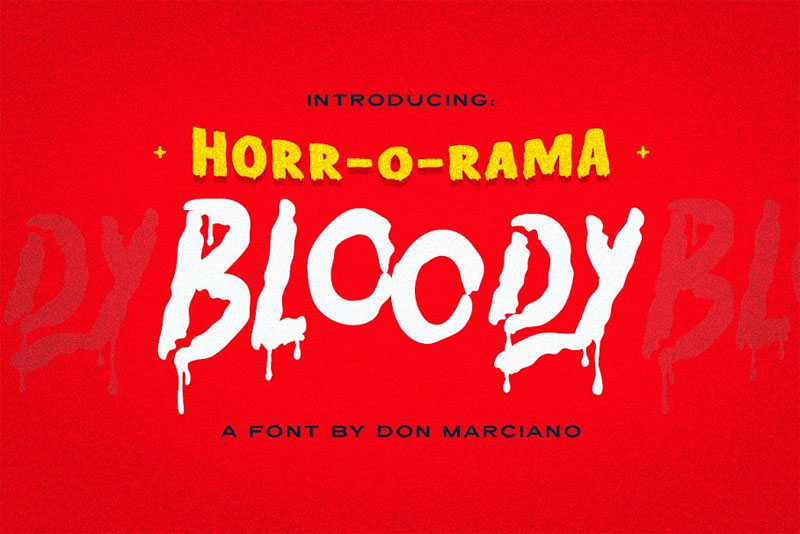 bloody scary horror and scary font
