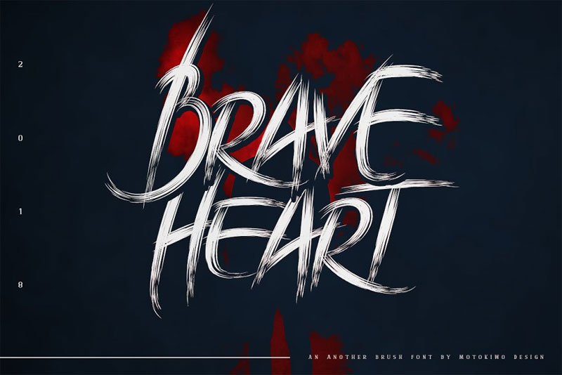 brave heart horror and scary font