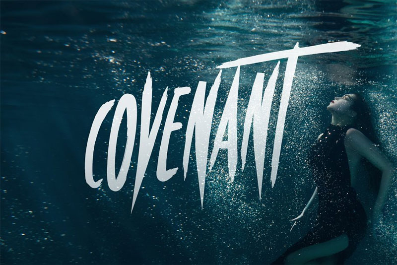 covenant horror and scary font