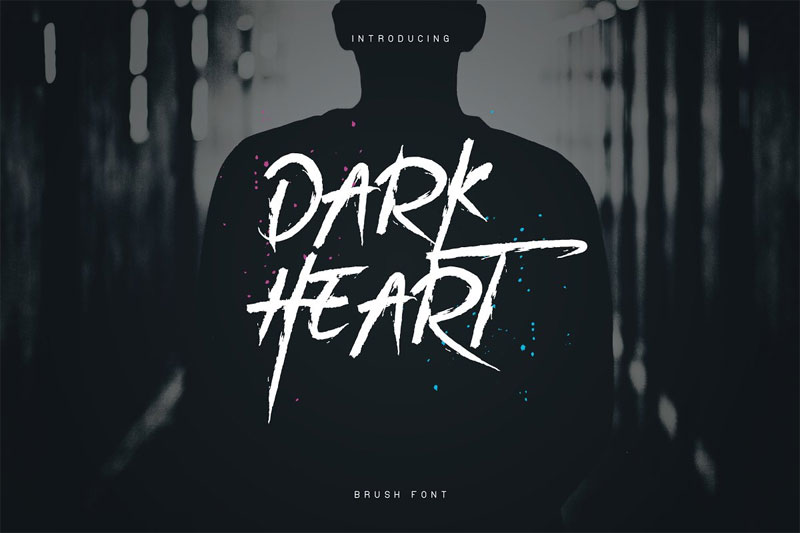 darkheart brush horror and scary font