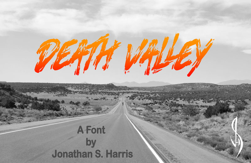 death valley horror and scary font