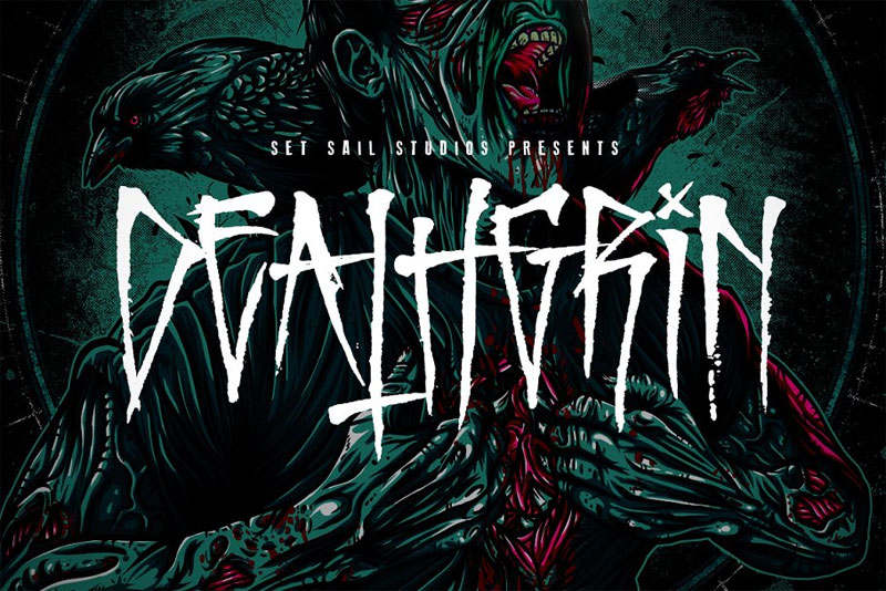 deathgrin horror and scary font
