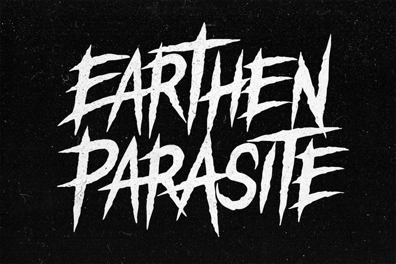 earthen parasite horror and scary font