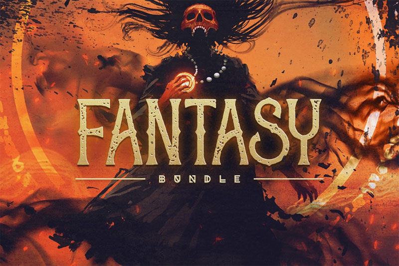 fantasy bundle horror and scary font