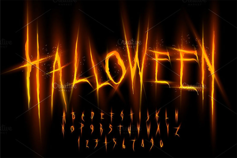 halloween horror and scary font