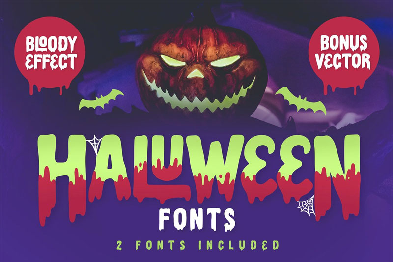 haluween horror and scary font