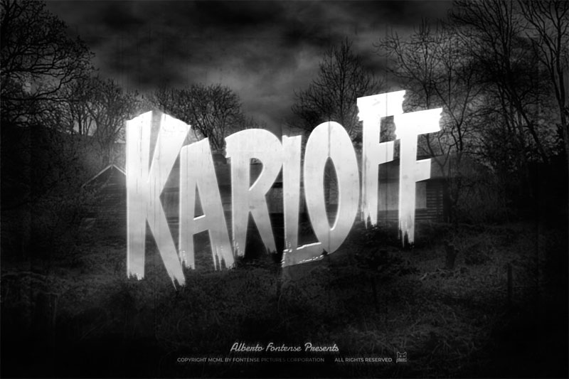 karloff horror and scary font