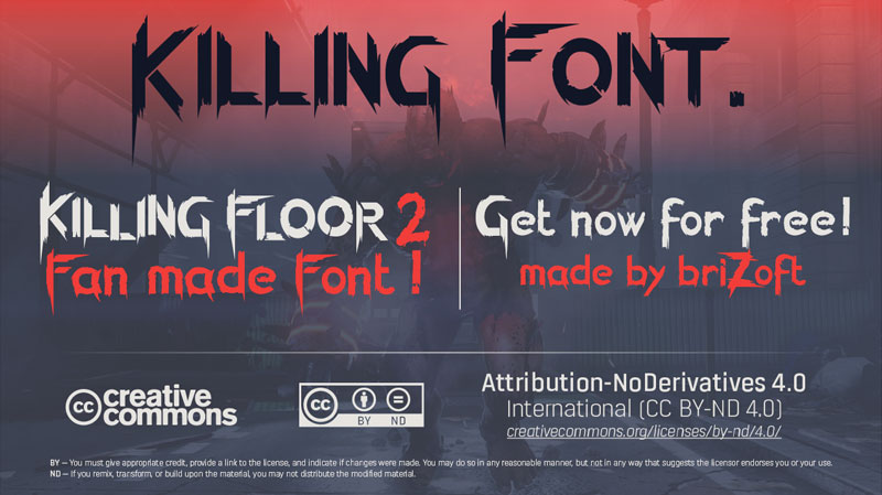 killing font horror and scary font