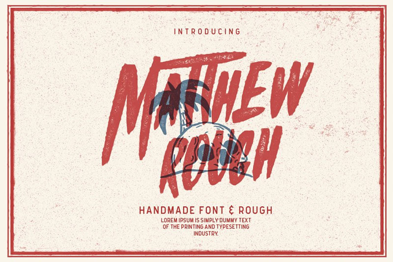 matthew rough horror and scary font