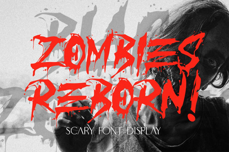 reborn zombies horror and scary font
