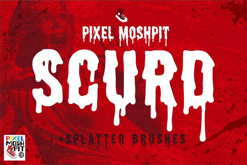 scurd horror and scary font