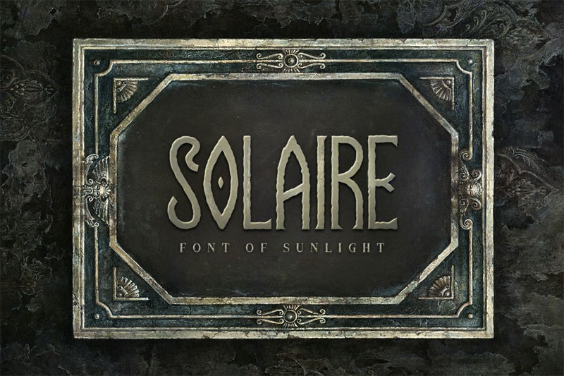 solaire typeface horror and scary font