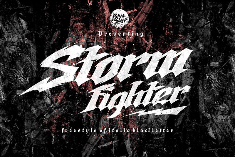 storm fighter horror and scary font