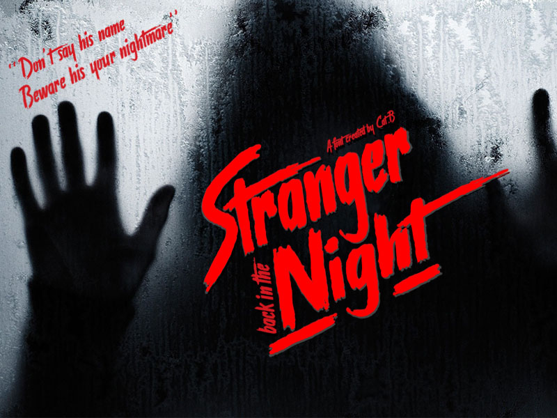 stranger back in the night horror and scary font