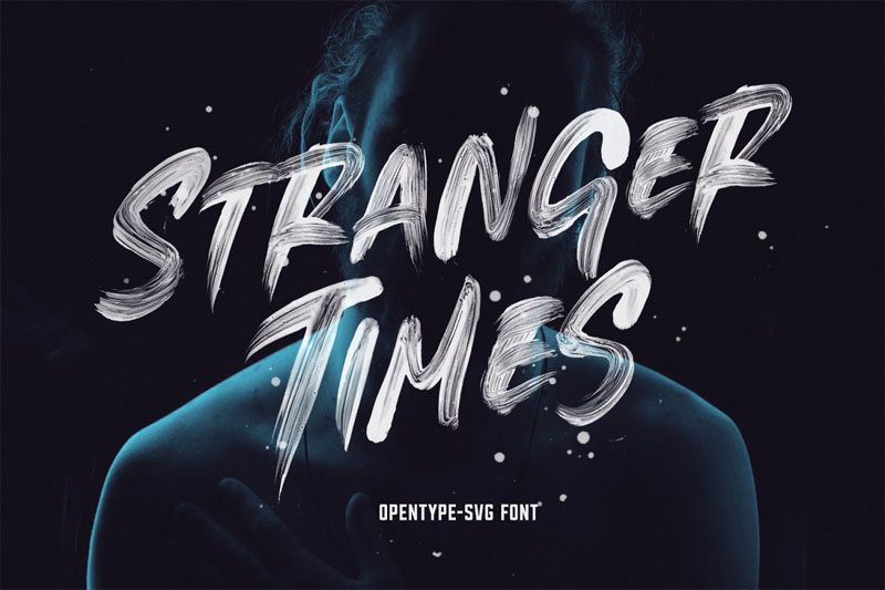 stranger times horror and scary font