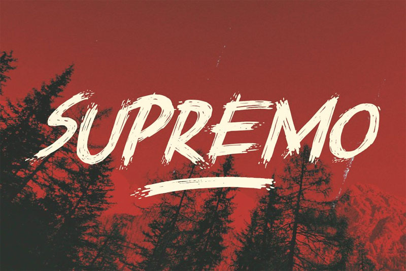 supremo horror and scary font