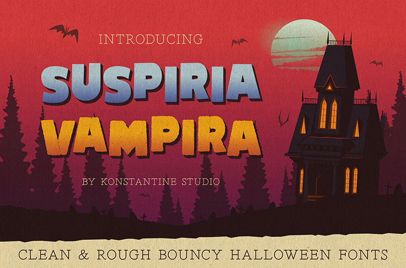 suspiria vampira horror and scary font