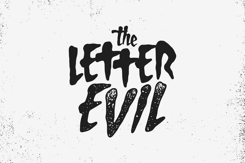 the letter evil horror and scary font