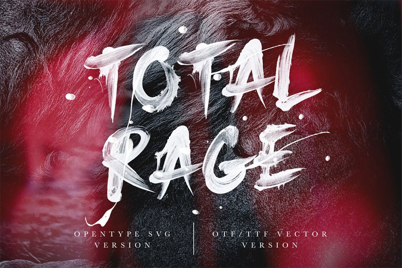 total rage horror and scary font